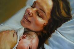 Anyaság-60x50-cm-olaj-vászon-