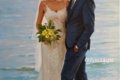 Esküvő-90x60cm , olaj-vászon