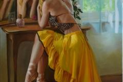 Táncosnő-70x50-cm , olaj-vászon
