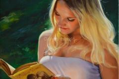szerelmes-regény-50x40-cm , olaj-vászon
